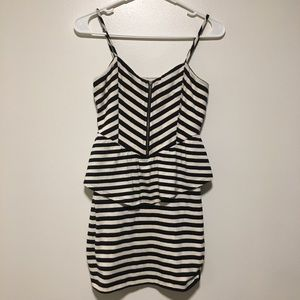 Sparkle & fade, Urban Outfitters striped dress.